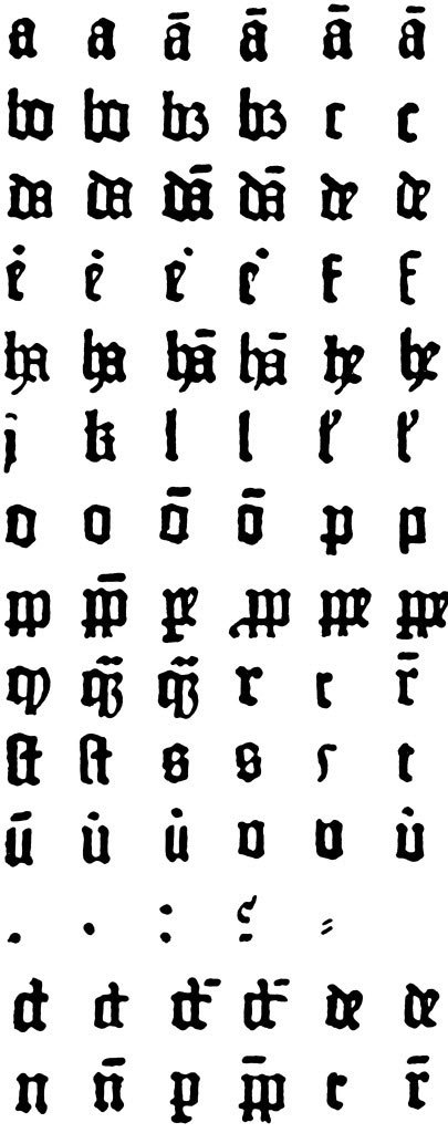 Textura: A font for the ages Simon Garfield explores the peculiar history of typefaces in his new book, Just My Type: A Book About Fonts,  published by Gotham Books. In the second of five exclusives excerpts,  Garfield looks at the 15th-century equivalent of Times New Roman: Johannes Gutenberg didn't much care about finding a suitable font for  each new project, or even changing the course of Western history. What  he cared about was making money.