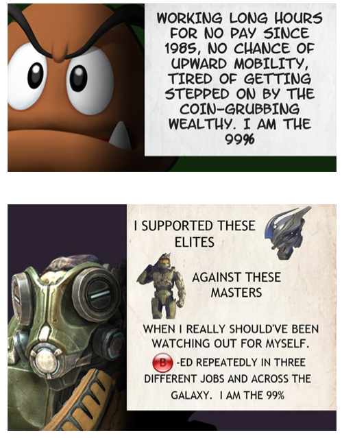 Videogame Minions are the 99% - (More Protest Signs on Click Through)