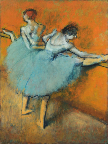 "Degas' Dancers: Behind The Scenes, At The Barre : NPR  The curator of a new Degas exhibit talks about the parallel between the repetition of Degas' drawing routine and the ballet dancers he drew:  ""You have to draw and draw and draw — just like a dancer practices again, again and again the same steps, the same movements in order to achieve that beautiful grace and fluidity and mastery of their art,"" says Rathbone.Merce Cunningham, the avant-garde American dancer and choreographer, said ""dancers shouldn't be dancers if they don't love the dailiness of it,"" adds Webre. ""It's that dailiness that Degas captured, and it's the dailiness that's in the spirit of his return to those subjects.""  ""Dailiness."" I love that—you have to love the ""dailiness"" of what you're doing.  Also, something I never thought about: Degas rarely drew dancers in performance — only practice. ""In their pretty tutus and sashes, they are in the process of making art — that's the subject of Degas' obsession."""