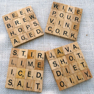 """Scrabble"" Drink Coasters by MadeByMarcy"