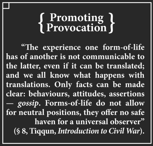 Promoting Provocation 001