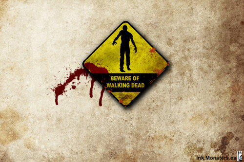 "thewalkingdead-latinoamerica:  ""Beware of Walking Dead"" por webmartin99"