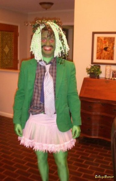 collegehumor:  Old Gregg Costume  By far the scariest thing I've see the Hulk's wife