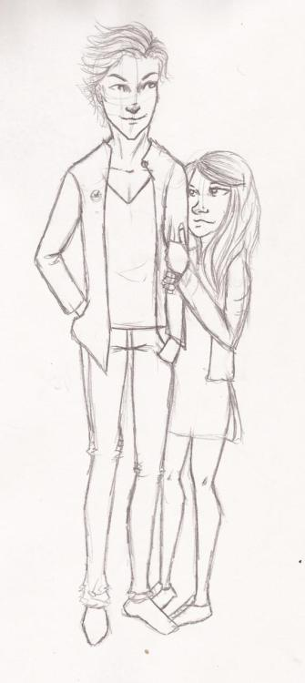 Finnick and Annie. Will color it later.