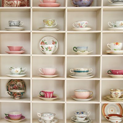 What a great way to decorate with teacups! Just curious if anyone has done this in their home? AGWT