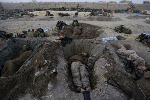 US Marines from the 2nd MEB, 1st Battalion 5th Marines (1/5) in Afghanistan