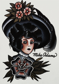 mikeadamstattoo:  8x10 prints available next week.  love this guys traditional style of work, need him to tattoo me!