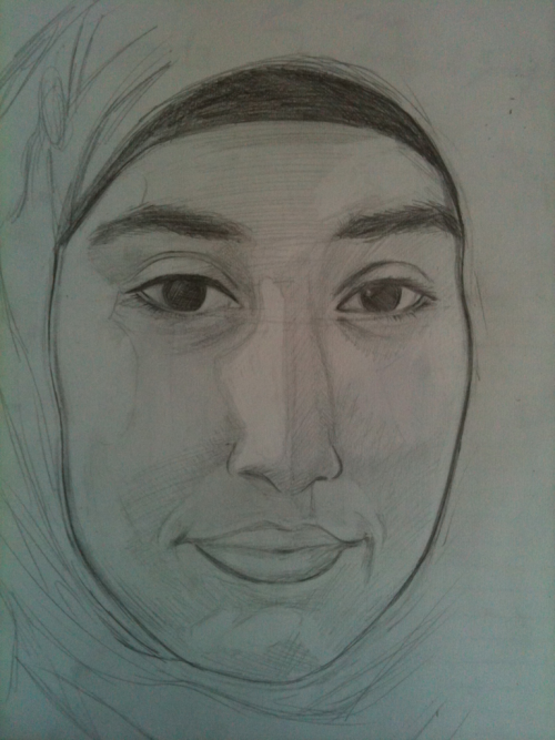 Another portrait I drew, of my friend Zara, in pencil.   I've also done an oil painting of this and I shall post it as soon as I get a photo of it!