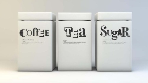 kitchen jars for typelovers (via portfolio website of graphic designer Ant Baena)
