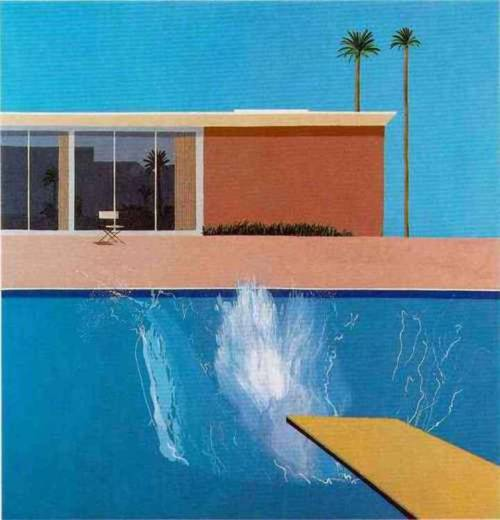 standardhotels:  Graphic of the Day: David Hockney  What says 'Swimming in LA' better than a David Hockney swimming pool painting? (One of these days I will have to write a proper post about these…) I miss summer! Oh and new content coming soon, I promise!!
