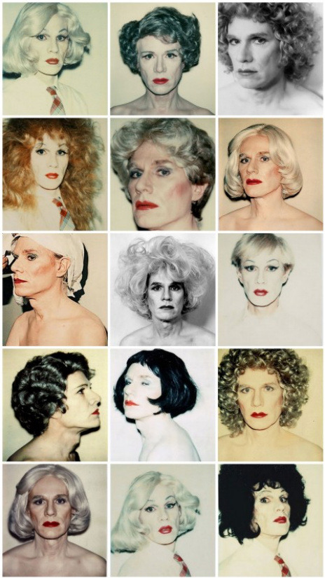 Andy Warhol in drag.