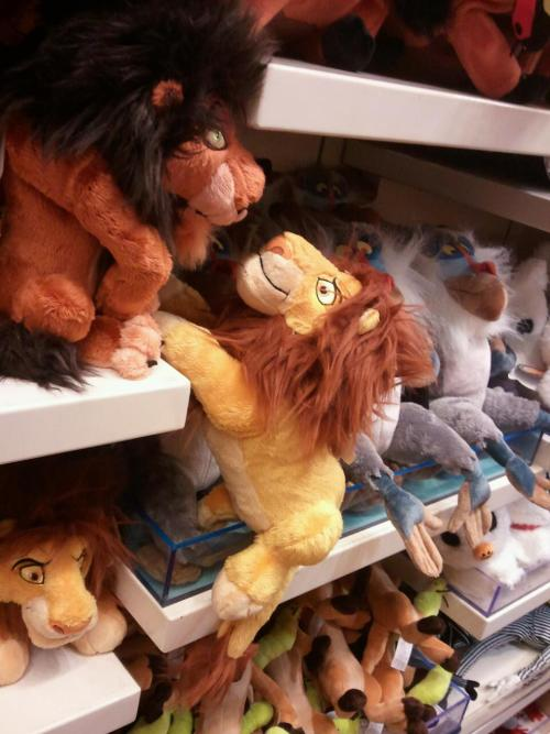 ohheyitsrenee:  What Laura and I do in Disney stores to entertain ourselves.