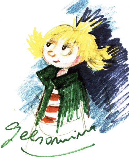 One of Federico Fellini's initial sketches of La Strada's Gelsomina  (via)