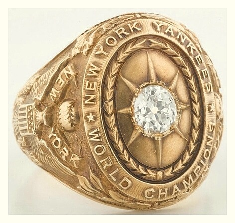 1927 New York Yankees World Series Ring (Miller Huggins) This is the actual championship ring that was given to New York Yankees Mgr. Miller Huggins for leading the team to victory in the 1927 World Series.