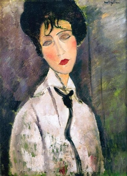 Amedeo Modigliani, Portrait of a Woman in a Black Cravat 1917
