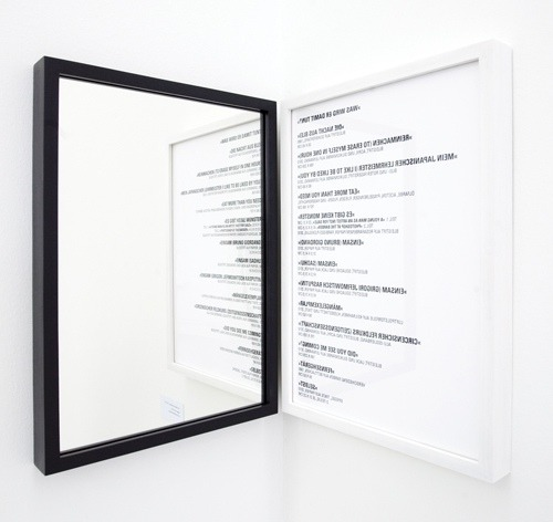 TEXT and MIRRORS. I'm all over it. k15h1:  Michael Müller
