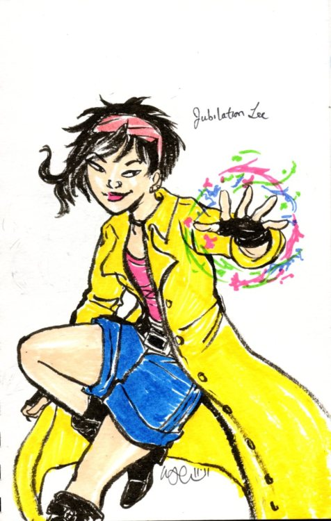 quick pen and marker doodle of Jubilee!