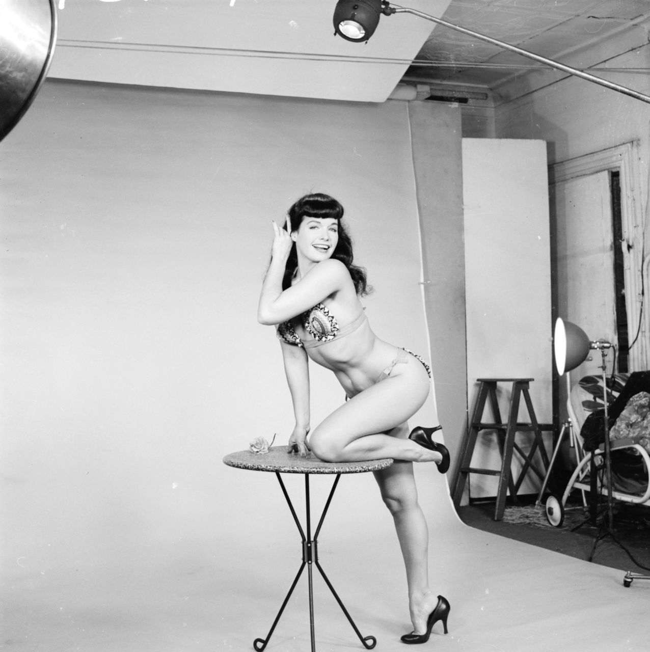 Bettie Page photographed by Weegee