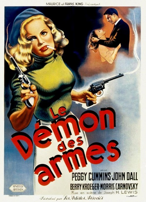 the-asphalt-jungle:  Gun Crazy (1949)  French poster