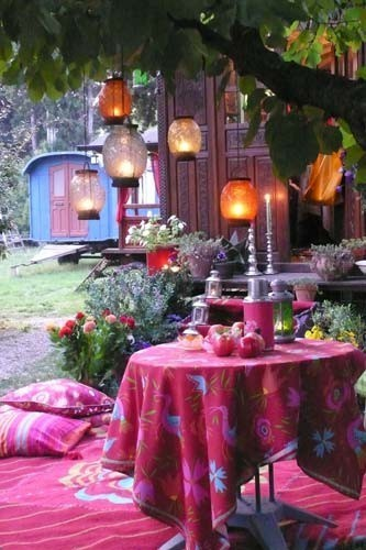 My Bohemian Home ~ Outdoor Spaces chasingthegreenfaerie:  How do you get out of your creative ruts? on We Heart It. http://weheartit.com/entry/15282528