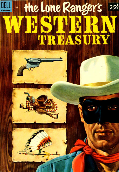 (via Pappy's Golden Age Comics Blogzine) Lone Ranger Western Treasury #1, 1953 - art by Tom Gill