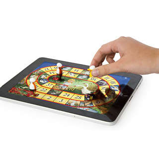 Think we'll be seeing more and more of these interactive iPad games with parts you can place on the screen. (iPawn Games - buy at Firebox.com)