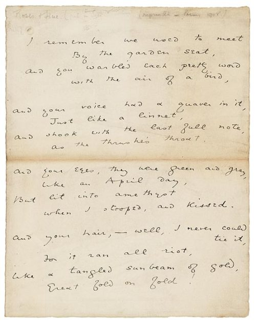 naranjitoo:  Oscar Wilde's handwriting.