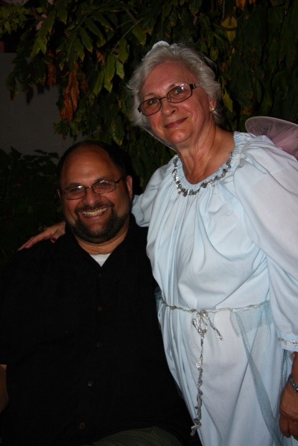 Me 'n Mom at her annual Halloween party which was combined this year with Birthdays.  Kevin turned 19, and as usual, Mom's party was a lot of fun.  Oct. 30, 2011