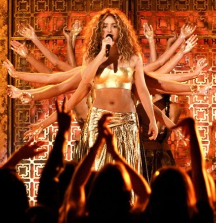 Shakira performs at the 49th Annual GRAMMY Awards held at Staples Center on Feb. 11, 2007