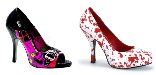 Zombie shoes!! (via Pleaser and Funtasma)