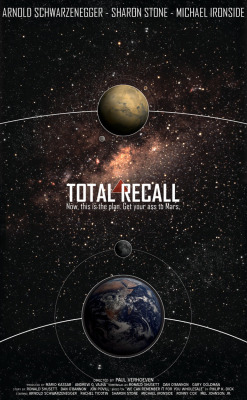 Total Recall: Sci-Fi Movie Poster