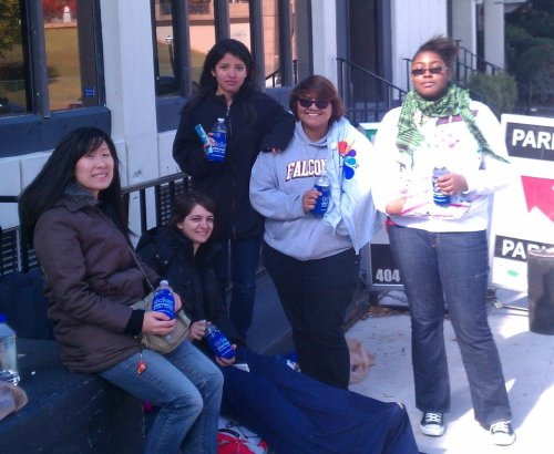 The Awesome Miyavi fans who started lining up for his show at The Loft earlier today.