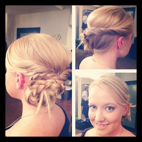 @platinumblonde Thnx Melanie for coming into Bloom for your braided up-style. You look gorgeous & have a blast at the Lucky Shop event! (Taken with instagram)