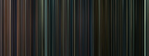 every frame of every harry potter movie, condensed into a barcode. (this is beautiful for so many reasons, one being, that the colors get darker untill the end where there is a solid white strip, that has to be the Kings Cross scene. which is a bit of light in a dark time)