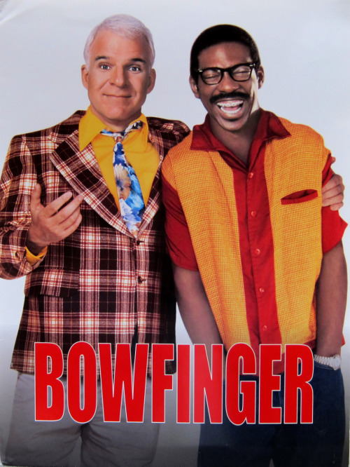 The Press Kit Cover: Bowfinger (1999) Directed by Frank Oz. Starring Steve Martin, Eddie Murphy, Heather Graham, Christine Baranski, Barry Newman, Terence Stamp and Robert Downey Jr.