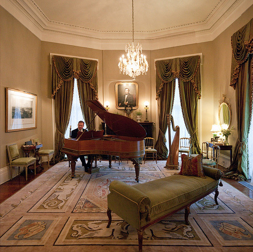 The Music Room in the historic Colonel Robert Short House in New Orleans, Louisiana I have serious piano envy right now (by metroblossom)