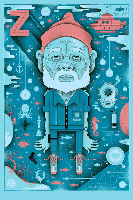 laughingsquid:  Zissou4 by Graham Erwin  Zissou!
