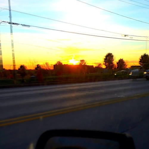 Nice sunset to kick off the weekend :) (Taken with instagram)