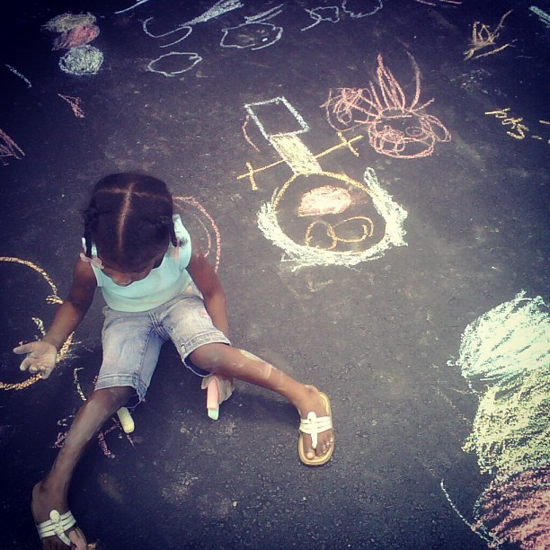My daughter Sydney and her on form of #artwork  (Taken with instagram)