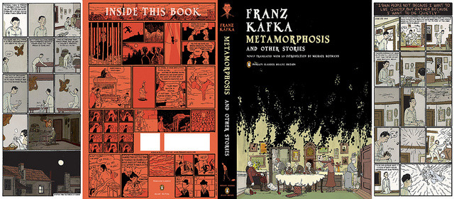 fantagraphics:  Franz Kafka's Metamorphosis by Sammy Harkham on Flickr. Sammy Harkham cover for the Penguin Classics Deluxe Edition.