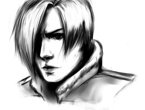 Leon sketch: resident evil 4by ~xXthroughdarknessXx