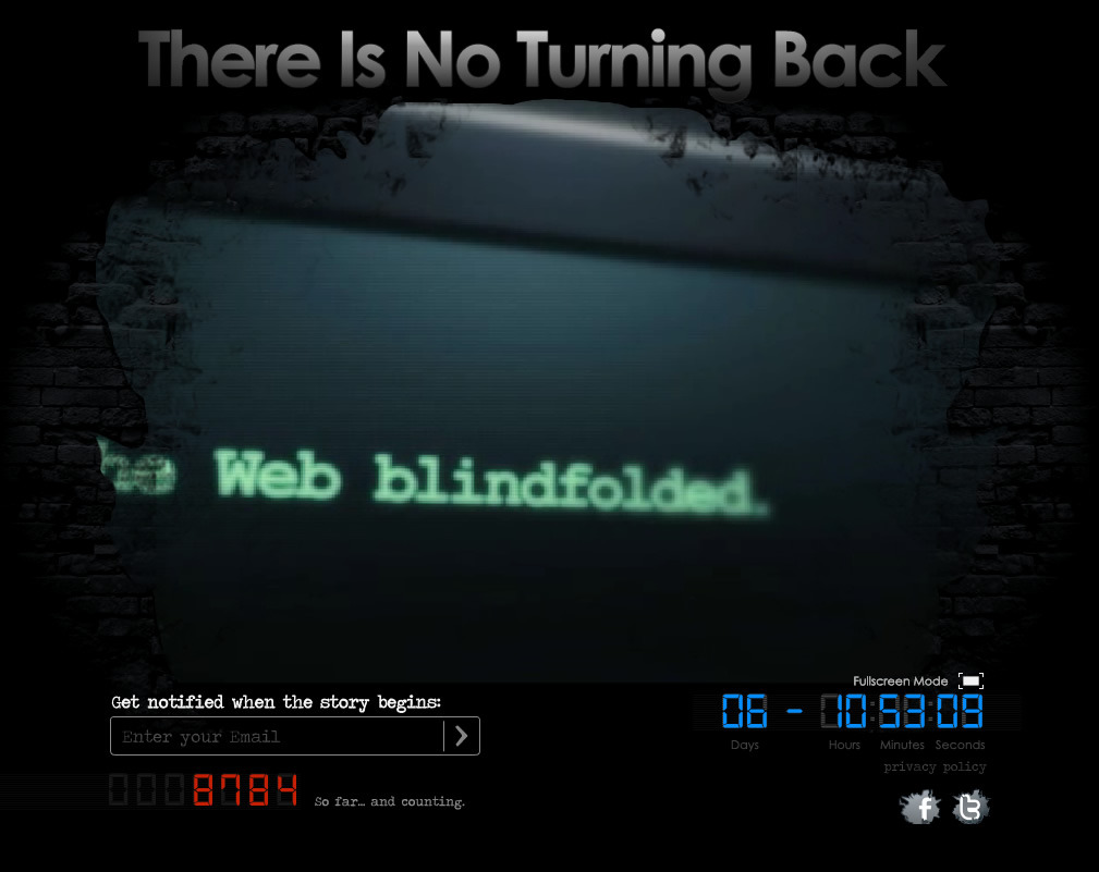 """There is something wrong with the web, you are surfing the web blindfolded. There is no turning back from 11/11/11"" - or so they say.. interesting! http://ow.ly/7jGbz"