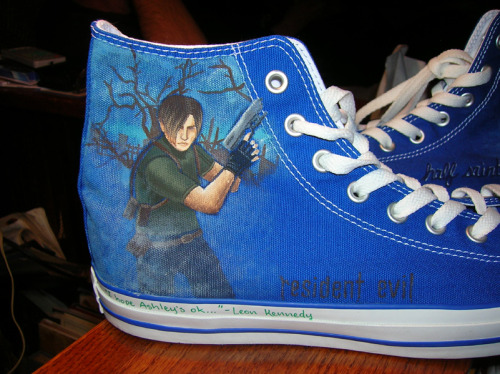 Noah's shoes: Leon Kennedyby ~MoulinRose   (I am in awe and extreme jealousy)