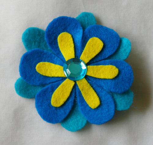 True Blue Hair Flower - Now Available (US $3.00)