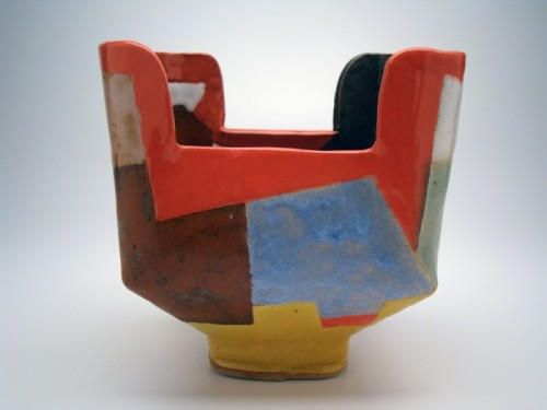 bandipur:  John Gill Bowl Low-fire earthenware 7x5x7in.
