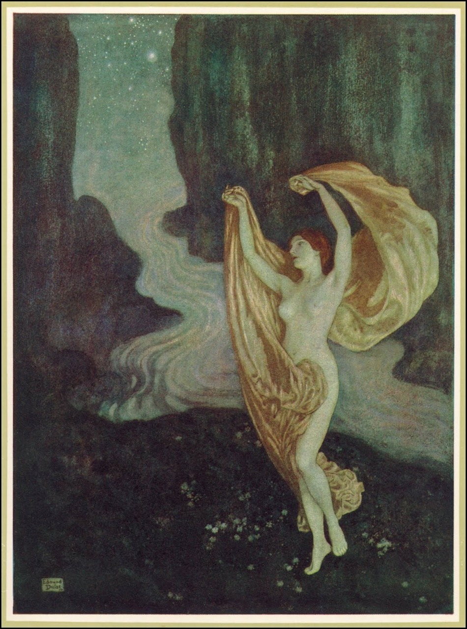 mudwerks:  (via Golden Age Comic Book Stories)  Edmund Dulac   The Poetical Works of Edgar Allan Poe, Published by Hodder & Stoughton ~ 1912