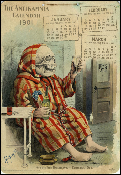 sunshinegoth:  The Antikamnia Chemical Company Calendar, April-June, 1901