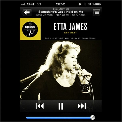 #Soundtrack to my #life #ettajames #iphone #music  (Taken with instagram)