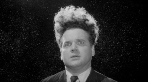 Eraserhead is all sprung from Philadelphia. Henry in Eraserhead is a person who is living under the influence of those things that existed for me in Philadelphia.    Philadelphia is filled with a kind of mysterious darkness. And there's a thing about darkness that pulls you in because it's a mystery. When you don't know what's there, you're sort of pulled in. That's one of the things that Philadelphia gave me: a feeling of mystery in the dark.    I had my first thrilling thought in Philadelphia.    I haven't returned to Philadelphia, and I have no desire to.  -David Lynch