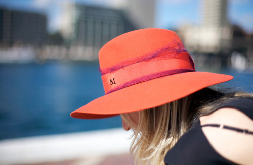 Ahhhhh that Maison Michel hat… Sydney Harbour… I miss you Australia and I want to wear that hat every day of the week! Image by Phil Oh for American Vogue.com